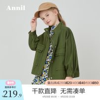 Jacket / leather Annil / anel female 110cm 120cm 130cm 140cm 150cm 160cm 170cm Cotton blended fabric leisure time spring and autumn routine nothing Zipper shirt There are models in the real shooting stand collar Cotton 98.5% polyurethane elastic fiber (spandex) 1.5% Spring 2020