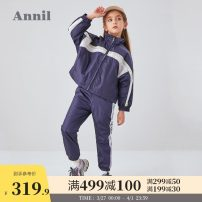 suit Annil / anel New royal blue Photinia purpurea 110cm 120cm 130cm 140cm 150cm 160cm 170cm female spring and autumn motion Long sleeve + pants 2 pieces There are models in the real shooting Zipper shirt nothing children Learning reward EG035322 Polyamide fiber (nylon) 100% Autumn 2020