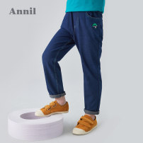 trousers Annil / anel male 110cm 120cm 130cm 140cm 150cm 160cm 170cm Blue denim spring and autumn trousers leisure time There are models in the real shooting Jeans Leather belt middle-waisted Cotton blended fabric Don't open the crotch EB936306 EB936306 Autumn of 2019