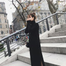 Dress Winter of 2019 black S,M,L,XL longuette singleton  Long sleeves commute High collar High waist Solid color Socket other routine Others Type H Other / other Korean version thread 71% (inclusive) - 80% (inclusive) knitting other