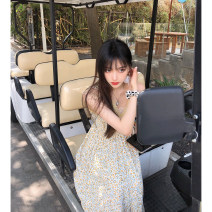 Dress Spring 2021 Yellow  S,M,L longuette singleton  Sleeveless commute V-neck Elastic waist Decor Socket A-line skirt other Others 25-29 years old Type A Seven7jia / qiqijia Korean version 71% (inclusive) - 80% (inclusive) other other