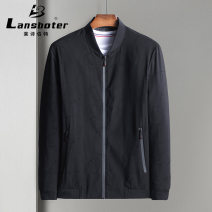 Jacket Bond / Lambert Fashion City Black, gray 175/L,195/XXXXL,180/XL,185/XXL,190/XXXL routine standard Other leisure, everyday spring Long sleeves Wear out stand collar Business Casual youth Zipper placket 2020 Straight hem No iron treatment Solid color More than two bags) Side seam pocket other