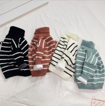 Sweater / sweater 80cm,90cm,100cm,110cm,120cm,130cm Pure cotton (100% cotton content) male Other / other Korean version thickening Lapel Ordinary wool stripe Class A 6 months, 12 months, 9 months, 18 months, 2 years old, 3 years old, 4 years old, 5 years old, 6 years old, 7 years old