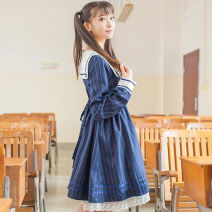 student uniforms Summer of 2019, spring of 2019, autumn of 2019 Dark blue stripe Long sleeves solar system skirt 18-25 years old Other / other other 51% (inclusive) - 70% (inclusive)