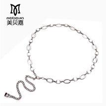 Belt / belt / chain Metal Gold Oval silver round gold square silver square silver G-shaped gold buckle round female Waist chain Versatile Single loop