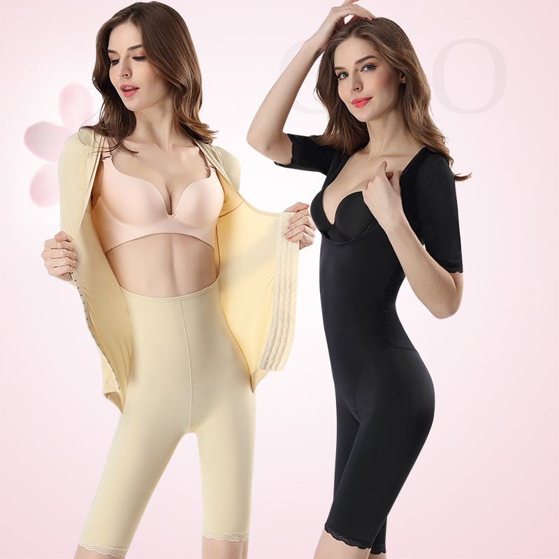 Body shaping suit Four seasons Other / other Button skin color button less black button less skin color sleeve less button skin color sleeve less Button Black Thin money The abdomen postpartum recovery