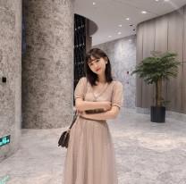 Fashion suit Summer of 2019 Average size Beige set