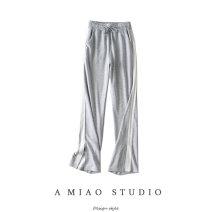 Casual pants Gray, black S,M,L Autumn 2020 trousers High waist routine 71% (inclusive) - 80% (inclusive)