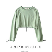 Sweater / sweater Autumn of 2019 Green, black, white, gray S, M Long sleeves have cash less than that is registered in the accounts Socket singleton  routine Crew neck street Solid color 71% (inclusive) - 80% (inclusive) Europe and America