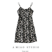 Dress Summer 2020 As shown in the figure S,M,L Short skirt singleton  Sleeveless commute High waist camisole Retro 71% (inclusive) - 80% (inclusive)