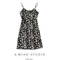 Dress Summer 2020 As shown in the figure S,M,L Short skirt singleton  Sleeveless commute High waist camisole Retro 71% (inclusive) - 80% (inclusive)