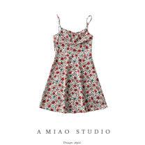 Dress Summer 2021 As shown in the figure S,M,L Short skirt singleton  Sleeveless commute Decor camisole Retro 71% (inclusive) - 80% (inclusive)