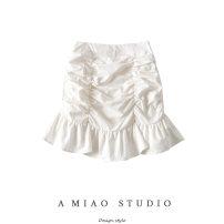 skirt Summer 2020 S,M,L Black, white Short skirt High waist 71% (inclusive) - 80% (inclusive)