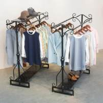Clothing display rack With bottom plate 100 long X150 high, with bottom plate 120 long X150 high, with bottom plate 150 long X150 high, with upper and lower plate 100 long X150 high, with upper and lower plate 120 long X150 high, with upper and lower plate 150 long X150 high clothing iron Double row