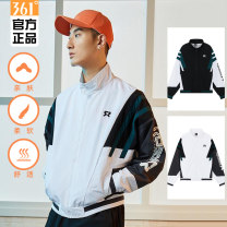 Sports windbreaker male 361° XS SL XL 2XL 3XL 4XL m (adult) Spring 2021 stand collar zipper Pattern letter Sports & Leisure nylon Life Series Windbreak yes Same model in shopping mall (sold online and offline)
