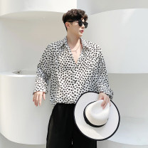 shirt Youth fashion Others M,L,XL White, black routine square neck Long sleeves standard Other leisure Four seasons 700MC81 teenagers tide 2020 Geometric pattern No iron treatment Easy to wear