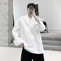 shirt Youth fashion Others M,L,XL White, black routine other Long sleeves easy Other leisure Four seasons 650M2316 youth New polyester fiber 80% modified polyacrylonitrile fiber (modified acrylic fiber) 20% tide 2020 Solid color
