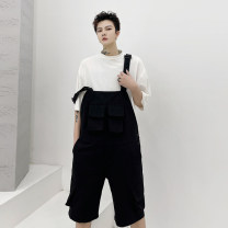 Casual pants Others Youth fashion Black, greyish green M,L,XL,2XL routine Pant Other leisure easy No bullet 21.01.25 spring youth tide 2021 middle-waisted Straight cylinder straps Pocket decoration No iron treatment Solid color