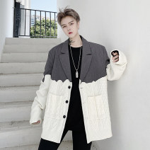 man 's suit Gray, black Others Youth fashion routine M,L,XL 2150MKK1542 easy Triple single breasted Other leisure No slits teenagers Long sleeves autumn routine tide Casual clothes Flat lapel Straight hem other Regular collar (collar width 7-9cm) 2020 Three dimensional bag No iron treatment Assembly
