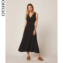 Dress Spring 2020 black XS S M L XL longuette Sleeveless street V-neck High waist 25-29 years old oysho 31979115800-28 More than 95% other other Viscose (viscose) 100% Same model in shopping mall (sold online and offline) Europe and America