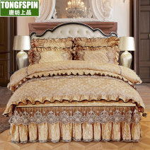 Bedding Set / four piece set / multi piece set Polyester (polyester fiber) Quilting Solid color 128x68 Polyester (polyester fiber) 4 pieces 40 Bed skirt Qualified products Gong Tingfeng plain cloth Reactive Print  Thermal storage velvet