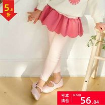 trousers Other / other female 100cm(7),110cm(9),120cm(11),130cm(13),135cm(15) Pink, dark blue spring and autumn trousers lady There are models in the real shooting Leggings Leather belt middle-waisted cotton Don't open the crotch Cotton 100% Class A 7,9,11,13,15 2, 3, 4, 5, 6, 7, 8, 9, 10 years old