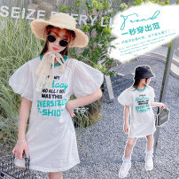 T-shirt white Other / other 110cm,120cm,130cm,140cm,150cm,160cm,170cm female summer Long sleeves Crew neck Korean version There are models in the real shooting nothing cotton other Cotton 90% other 10% NN Class B other Chinese Mainland Zhejiang Province Huzhou City