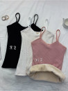 Vest sling Autumn 2020 Black, white, pink Average size singleton  routine Self cultivation commute camisole Solid color 18-24 years old 51% (inclusive) - 70% (inclusive) polyester fiber