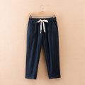 Women's large Yanujiao casual pants 032 25-29 years old cotton Janujiao Cotton 90.3% polyester 9.7% Pure e-commerce (online sales only) Summer 2017 trousers moderate easy Solid color Stereoscopic cutting Cropped Trousers Large XL Large 2XL large 3XL large 4XL