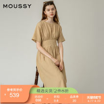 Dress Summer 2020 071 light beige 063 dark brown 00001 00002 longuette singleton  Short sleeve Sweet Crew neck middle-waisted Socket Big swing routine 25-29 years old moussy 010DSW30-2600 More than 95% other Other 100% solar system Same model in shopping mall (sold online and offline)