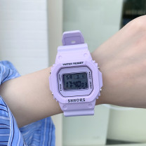 Wristwatch Shop warranty Electronic movement Other / other neutral silica gel domestic 0ATM other Plastic mirror 12mm 4cm square leisure time digital brand new Pin buckle ordinary ordinary jelly Summer 2020 China