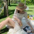Dress Summer 2020 Decor S,M,L,XL Mid length dress singleton  elbow sleeve Sweet square neck Decor Zipper, print Bohemia
