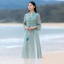 jacket Summer 2021 S,M,L,XL Bean paste green suit, pink suit D103 25-35 years old