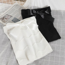 Vest sling Spring 2021 Black, white Average size singleton  have cash less than that is registered in the accounts Self cultivation commute camisole Solid color 18-24 years old 51% (inclusive) - 70% (inclusive) acrylic fibres Lace