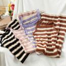 Vest sling Autumn 2020 Black, purple, pink, coffee Average size singleton  routine Self cultivation commute camisole stripe 18-24 years old 51% (inclusive) - 70% (inclusive) cotton Splicing