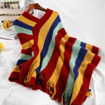 Wool knitwear Winter 2020 Average size Picture color Long sleeves singleton  Socket acrylic fibres 51% (inclusive) - 70% (inclusive) Regular routine commute easy V-neck routine stripe Socket Korean version 25-29 years old Splicing
