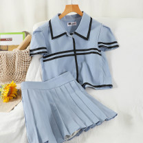 Fashion suit 51% (inclusive) - 70% (inclusive) Summer 2021 18-25 years old Blue, white M,L