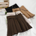 skirt Spring 2021 S,M,L Short skirt commute High waist A-line skirt Solid color Type A 18-24 years old 51% (inclusive) - 70% (inclusive) other other Button Korean version