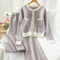 Fashion suit Autumn 2020 Average size Purple, apricot, black, orange 18-25 years old 51% (inclusive) - 70% (inclusive)