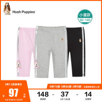 trousers Hush Puppies / Hush Puppies female 90cm 100cm 110cm 120cm 130cm 140cm summer Cropped Trousers leisure time Leggings Leather belt middle-waisted blending Cotton 93% polyurethane elastic fiber (spandex) 7% Class A Summer 2021 18 months, 2 years, 3 years, 4 years, 5 years, 6 years