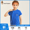 T-shirt Royal blue ice crystal blue white navy blue Hush Puppies / Hush Puppies 105cm 110cm 120cm 130cm 140cm 150cm 160cm 170cm male summer Short sleeve Crew neck leisure time There are models in the real shooting nothing cotton Cartoon animation Cotton 100% HPPXBD12CT600 Class B Summer 2021