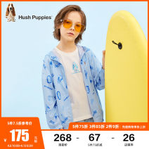 Plain coat Hush Puppies / Hush Puppies male 105cm 110cm 120cm 130cm 140cm 150cm 160cm 170cm Ben white ice crystal blue summer leisure time Zipper shirt There are models in the real shooting Thin money No detachable cap printing other HPPXBD04CC519 Polyester 96% polyurethane elastic fiber (spandex) 4%