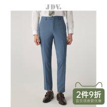 Western-style trousers J.D.V Business gentleman Light blue 165/68A/XS 170/72A/S 175/76A/M 180/80A/L 180/84A/XL 185/88A/XXL SPF9901 trousers Polyester fiber 69.7% viscose fiber (viscose fiber) 28.7% polyurethane elastic fiber (spandex) 1.6% Slim fit spring youth Spring of 2019 polyester fiber
