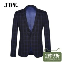 man 's suit Blue suit blue bottom blue vest J.D.V Business gentleman routine 170/S 175/M 180/L 180/XL 185/XXL WMM7077- Polyester fiber 67.8% viscose fiber (viscose fiber) 31.2% polyurethane elastic fiber (spandex) 1% Autumn of 2019 Self cultivation A single breasted button go to work Back middle slit