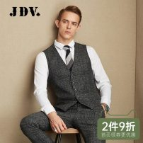 Vest / vest Fashion City J.D.V 165/84A 170/88A 175/92A 180/96A 180/100A 185/104A grey Other leisure Self cultivation Vest routine winter V-neck youth Business Casual WCV7019 lattice Single breasted Slant hem Polyester 49.7% wool 43.5% viscose 6.8% Assembly Thread embedding and bag digging Fall 2017