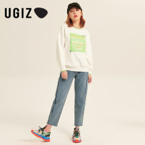 Sweater / sweater Spring 2021 Off white / IV Black / BK S M Long sleeves routine Socket singleton  routine Crew neck easy commute routine letter 25-29 years old 96% and above UGIZ Korean version other UATE125 cotton Other 100% Same model in shopping mall (sold online and offline)