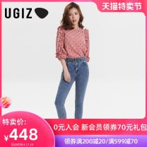 Jeans Summer 2021 S M L Ninth pants Natural waist Straight pants routine 25-29 years old UGIZ Other 100% Same model in shopping mall (sold online and offline)