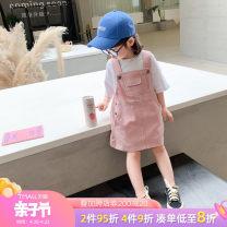 Dress Green pink off white female Tongsen Tongma 90cm 100cm 110cm 120cm 130cm 140cm Other 100% summer Korean version Strapless skirt Solid color Denim skirt Class B Summer 2020 18 months, 2 years old, 3 years old, 4 years old, 5 years old, 6 years old, 7 years old, 8 years old