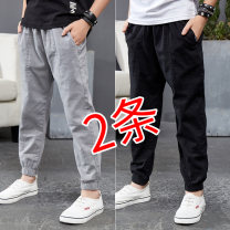 trousers She was hip-hop with him male 110cm 120cm 130cm 140cm 150cm 160cm 170cm spring and autumn trousers leisure time There are models in the real shooting Casual pants Leather belt middle-waisted cotton Don't open the crotch Cotton 98.4% polyurethane elastic fiber (spandex) 1.6% TX8098A-1 Class B