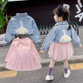 Dress Pink (dress + coat) grey (dress + coat) pink Navy Dress orange female LEGO magic Polyester 100% spring and autumn Korean version Long sleeves Solid color Cotton blended fabric Splicing style LG12050 Spring 2021 12 months 9 months 18 months 2 years 3 years 4 years 5 years 6 years old